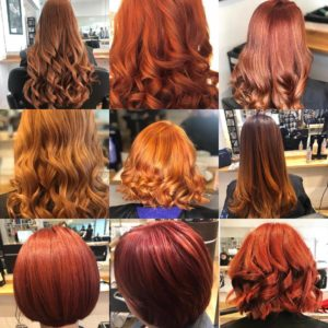 RED HAIR SHADES, AURORA HAIRDRESSING SALON, NORTHAMPTON