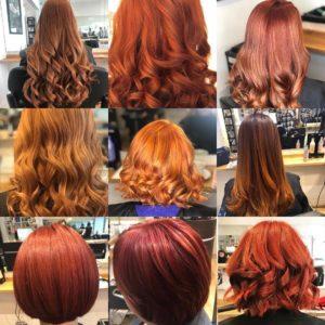 RED HAIR SHADES, AURORA HAIRDRESSING SALON, NORTHAMPTON