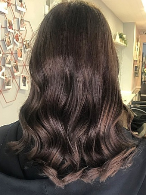 brunette hair colour, Aurora Hairdressing Salon, Northampton
